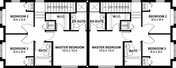 Dream House Plan - Craftsman Floor Plan - Upper Floor Plan #126-200