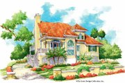 Mediterranean Style House Plan - 3 Beds 2 Baths 1853 Sq/Ft Plan #930-155 Exterior - Front Elevation