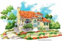 House Plan Design - Mediterranean Exterior - Front Elevation Plan #930-155