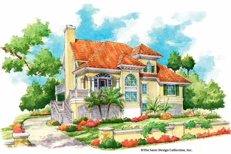 Mediterranean Exterior - Front Elevation Plan #930-155