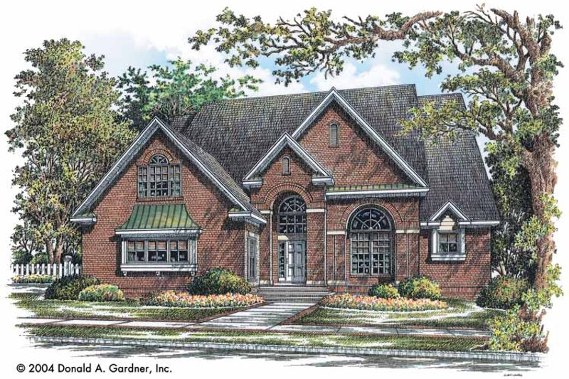 Traditional Exterior - Front Elevation Plan #929-738 - Houseplans.com