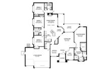 Mediterranean Floor Plan - Main Floor Plan Plan #1058-44