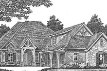 House Plan Design - European Exterior - Front Elevation Plan #310-1275