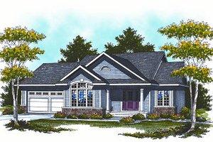 Architectural House Design - Cottage Exterior - Front Elevation Plan #70-857