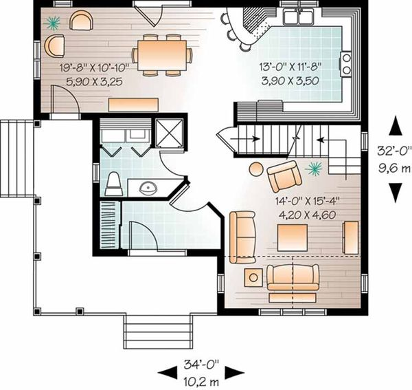 Country Floor Plan - Main Floor Plan Plan #23-2464
