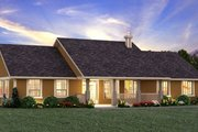 Ranch Style House Plan - 3 Beds 2 Baths 1924 Sq/Ft Plan #18-9545 Exterior - Front Elevation