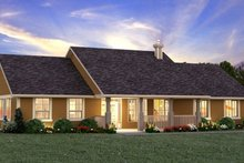 Architectural House Design - Ranch Exterior - Front Elevation Plan #18-9545