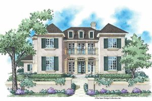 Country Exterior - Front Elevation Plan #930-335