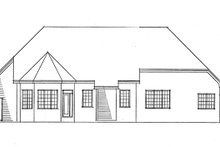 Ranch Exterior - Rear Elevation Plan #51-701