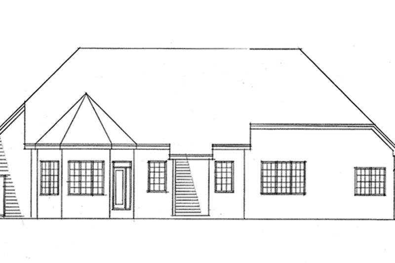 Ranch Exterior - Rear Elevation Plan #51-701 - Houseplans.com