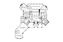 Mediterranean Floor Plan - Main Floor Plan Plan #453-617