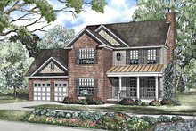 Country Exterior - Front Elevation Plan #17-3230