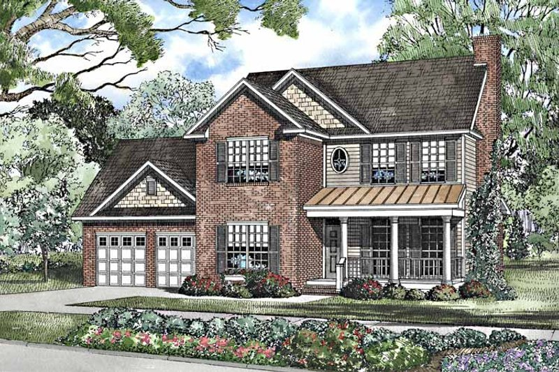 Country Exterior - Front Elevation Plan #17-3230 - Houseplans.com