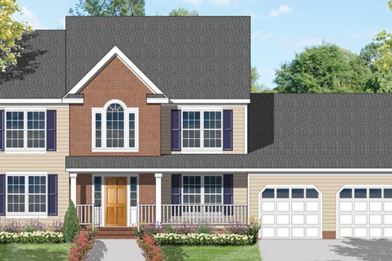 Country Exterior - Front Elevation Plan #1053-4