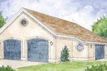 Architectural House Design - Mediterranean Exterior - Front Elevation Plan #410-3603