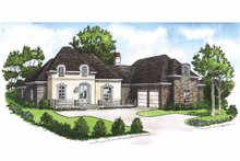 Dream House Plan - Country Exterior - Front Elevation Plan #15-383