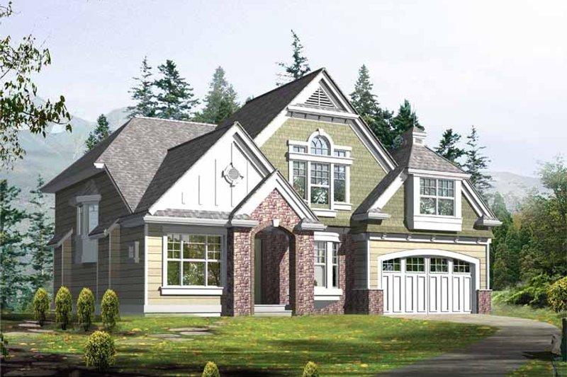 Craftsman Exterior - Front Elevation Plan #132-368 - Houseplans.com