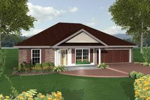 Ranch Exterior - Front Elevation Plan #44-206