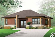 House Plan Design - Contemporary Exterior - Front Elevation Plan #23-2523