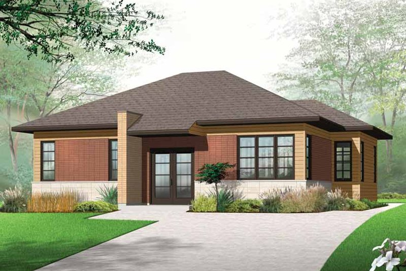 Architectural House Design - Contemporary Exterior - Front Elevation Plan #23-2523