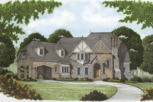 House Plan Design - Tudor Exterior - Front Elevation Plan #413-904