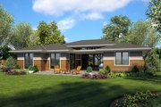 Ranch Style House Plan - 4 Beds 3 Baths 2374 Sq/Ft Plan #48-927 Exterior - Rear Elevation