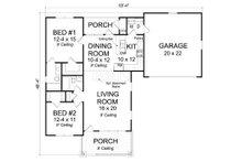 Cottage Floor Plan - Main Floor Plan Plan #513-2083