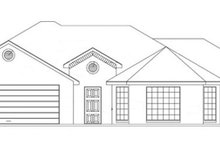 Ranch Exterior - Front Elevation Plan #1061-11