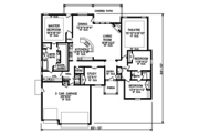 Country Style House Plan - 3 Beds 2.5 Baths 2724 Sq/Ft Plan #65-531 Floor Plan - Main Floor Plan