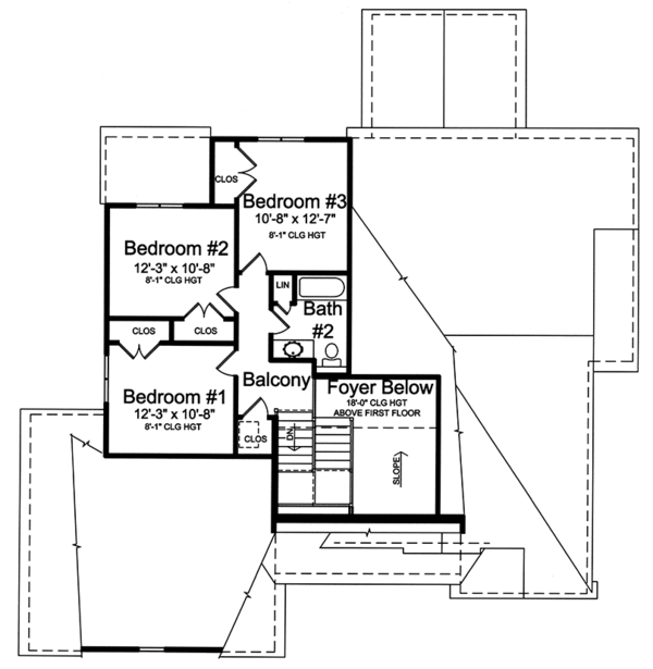 Country Floor Plan - Upper Floor Plan Plan #46-867