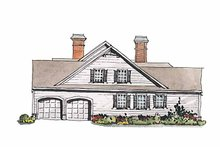 Home Plan Design - Colonial Exterior - Other Elevation Plan #429-177