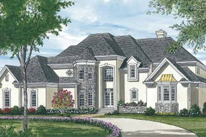European Exterior - Front Elevation Plan #453-146