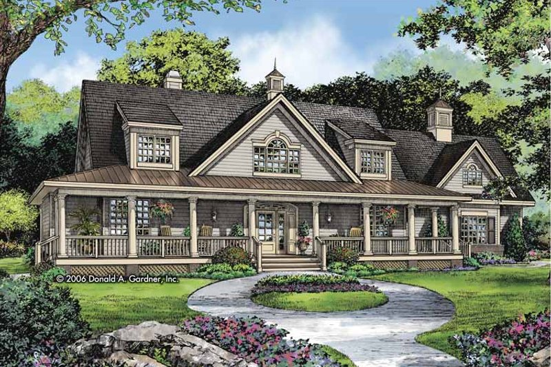 Country Exterior - Front Elevation Plan #929-806 - Houseplans.com