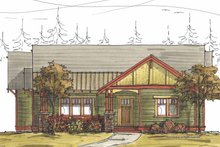 Architectural House Design - Craftsman Exterior - Front Elevation Plan #895-68