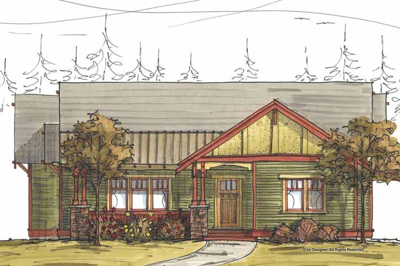 Craftsman Exterior - Front Elevation Plan #895-68 - Houseplans.com