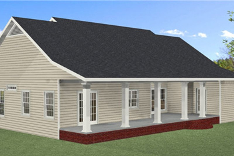 Southern Exterior - Rear Elevation Plan #44-189 - Houseplans.com