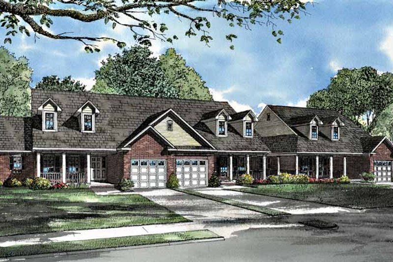 Dream House Plan - Country Exterior - Front Elevation Plan #17-3027