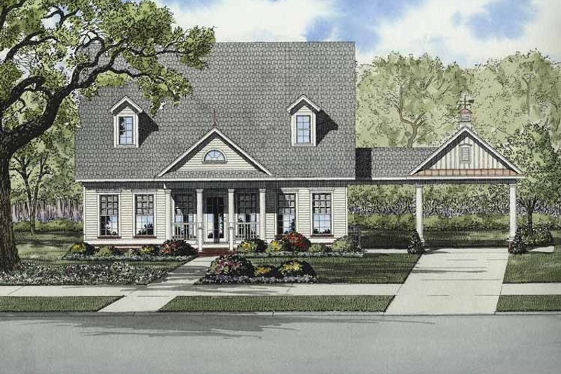 Country Exterior - Front Elevation Plan #17-2867 - Houseplans.com