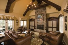 House Plan Design - European Interior - Family Room Plan #453-593