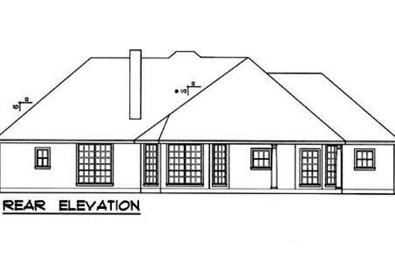 European Exterior - Rear Elevation Plan #40-320 - Houseplans.com