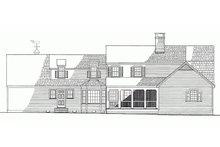 Colonial Exterior - Rear Elevation Plan #137-193