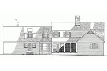 Home Plan - Colonial Exterior - Rear Elevation Plan #137-193