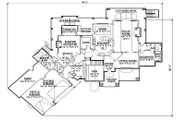 Traditional Style House Plan - 4 Beds 3 Baths 3590 Sq/Ft Plan #5-337 Floor Plan - Main Floor Plan