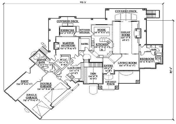 Traditional Floor Plan - Main Floor Plan Plan #5-337