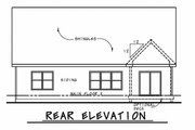 Ranch Style House Plan - 2 Beds 2.5 Baths 1676 Sq/Ft Plan #20-2314 Exterior - Rear Elevation