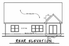 Home Plan - Ranch Exterior - Rear Elevation Plan #20-2314