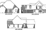 Traditional Style House Plan - 3 Beds 3.5 Baths 2949 Sq/Ft Plan #17-2025 Exterior - Rear Elevation