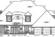 European Style House Plan - 4 Beds 3.5 Baths 3751 Sq/Ft Plan #310-221 Exterior - Rear Elevation
