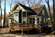 Dream House Plan - Rear View - 1900 square foot Cottage home