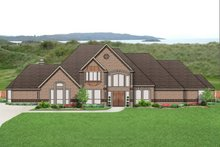 Home Plan - European Exterior - Front Elevation Plan #84-435